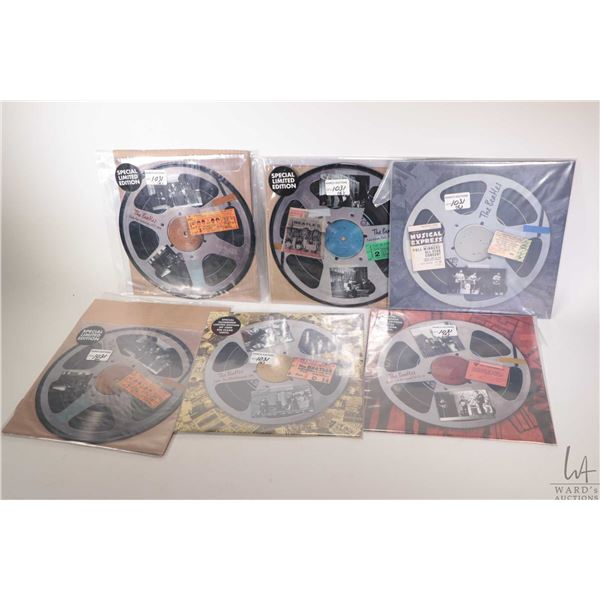 """Six reel to reel themed picture discs LPs some without covers including """"State Fair USA 1964"""", """"New"""