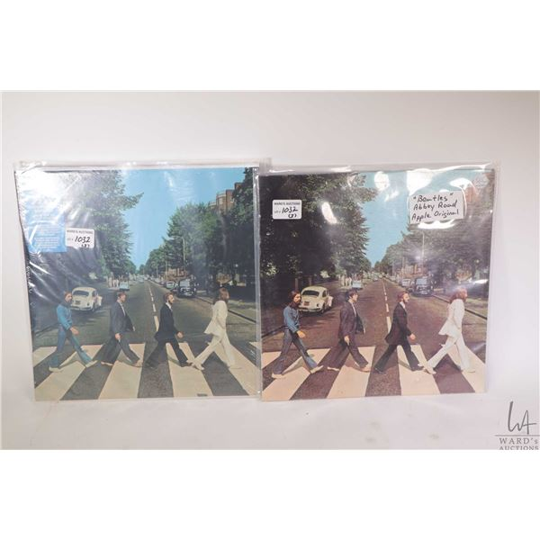 """Vintage copy of the Beatles """"Abbey Road"""" with Apple label SO-383 plus Anniversary edition, factory s"""