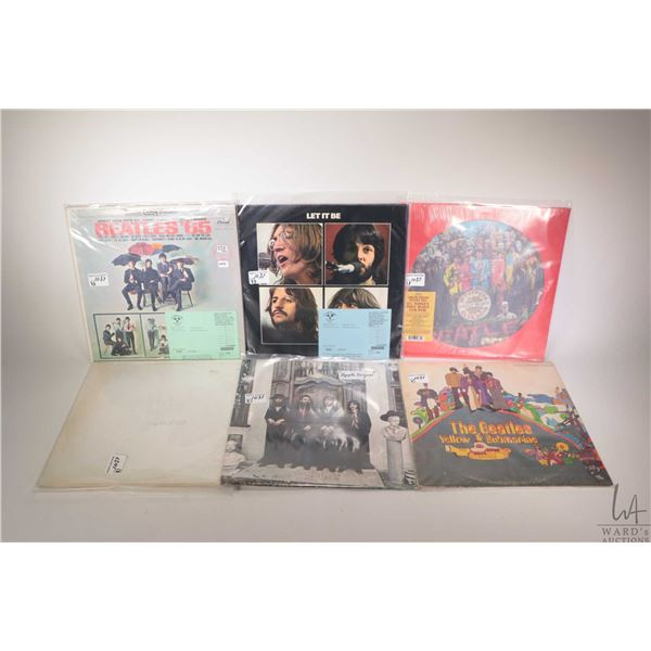 """Eight Beatles LPs including """"The Beatles 1962-1966"""" (Pressed in Holland), """" Abbey Road"""" ( US pressin"""