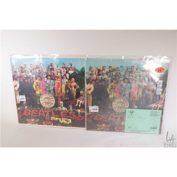 """Two copies of the Beatles """"Sgt Pepper's Lonely Hearts Club Band"""" including standard US pressing and"""