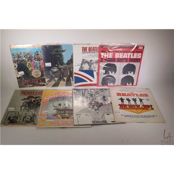 """Eight Beatles LPs including """"Magical Mystery Tour"""" (US), """"Hard Day's Night"""" (United Artists US), """"Ab"""