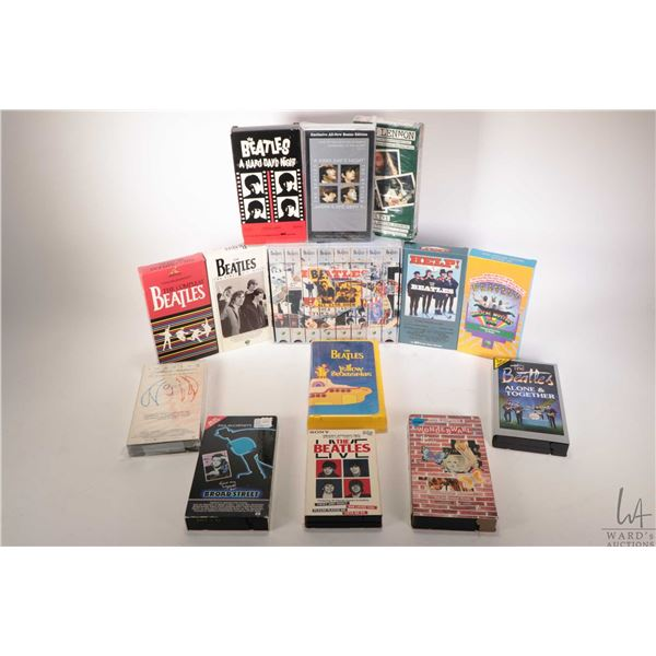 Selection of Beatles VHS tapes including Yellow Submarine, First US Visit, Hard Days' Night etc. plu