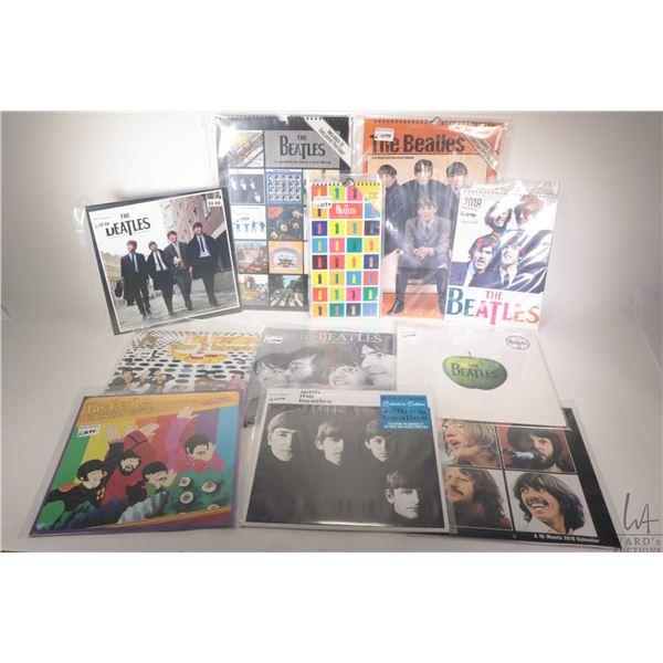 Fourteen Beatles themed wall calendars, assorted years