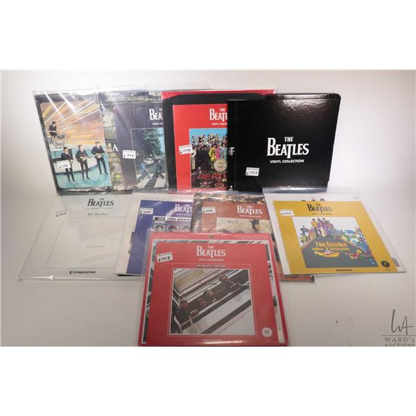 """Eight Beatles LPs including six from the reissue """"Vinyl Collection"""" by Deagostina, a Japanese reissu"""