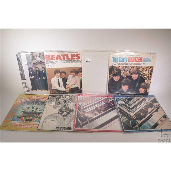 "Eight Beatles LPs including ""White Album"" (black vinyl, Canadian pressing), ""Hey Jude"", ""Revolver"" ("