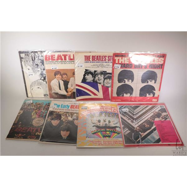 """Eight Beatles LPs including """"The Beatles 1962-1966"""", """"Hard Days Night"""" and """"Sgt. Pepper"""" plus other"""