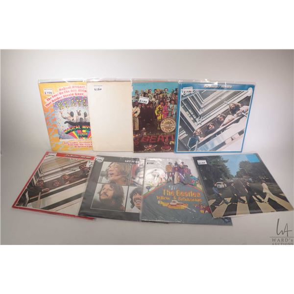 """Eight Beatles LPs including """"The Beatles 1967-70"""" (Canadian) """"Sgt. Pepper"""" ( German), """"The White Alb"""