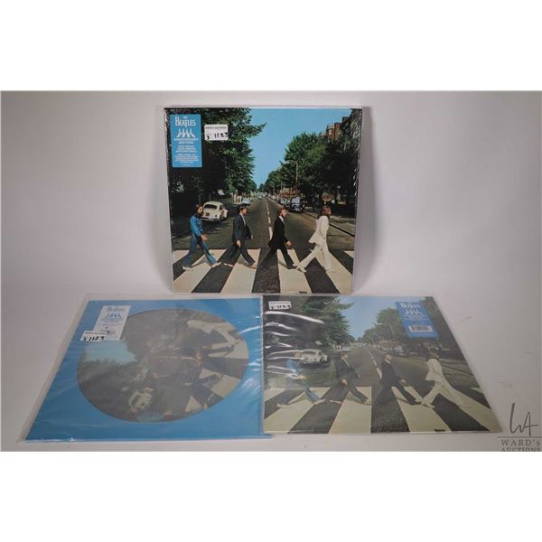"""Selection of reissued Beatles LPs including """"Abbey Road"""" picture disc, """"Abbey Road"""" standard vinyl w"""