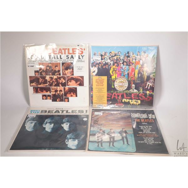 """Three vintage Beatles LPs including """"Long Tall Sally"""" ( Canada) , """"Meet the Beatles"""" (Canada) and """"S"""