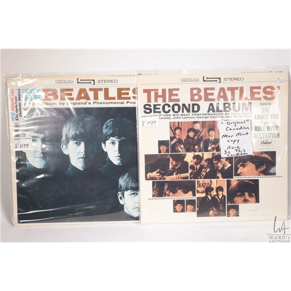 """Two vintage Beatles LPs including """"Meet The Beatles"""" ( on Capitol orange label) and """"The Beatles Sec"""