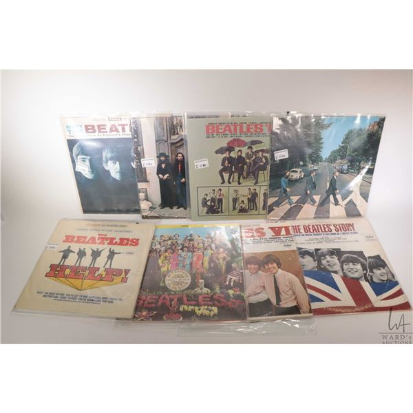 """Eight Beatles LPs including """"Meet the Beatles"""" """"Abbey Road"""", """"Beatles VI"""" all Canadian plus other Ca"""