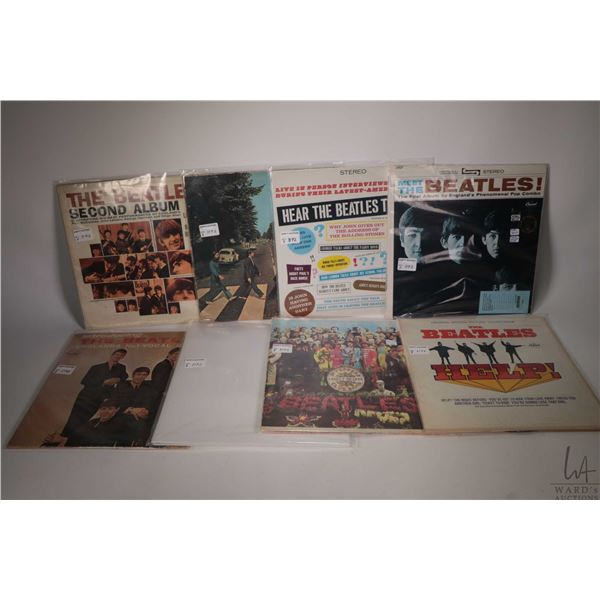 """Eight Beatles LPs including ?The Beatles Second Album"""" ( Capitol label), """" Abbey Road"""" (US), """"Hear T"""