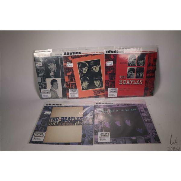 "Five limited edition and factory sealed live Beatles LPs including ""Australian Tour 1964"", ""Paris Fr"