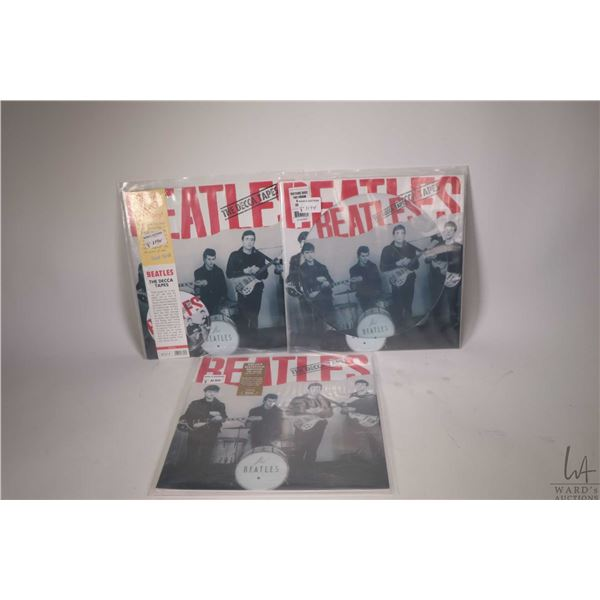 """Three different versions of the Beatles """"The Decca Tapes"""" on LP,  including 2016 picture disc and 20"""