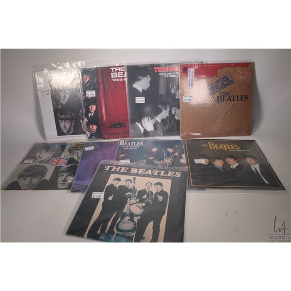 """Thirteen Beatles LPs including limited edition red vinyl factory sealed """"Greatest Hits 62-65"""" ( manu"""