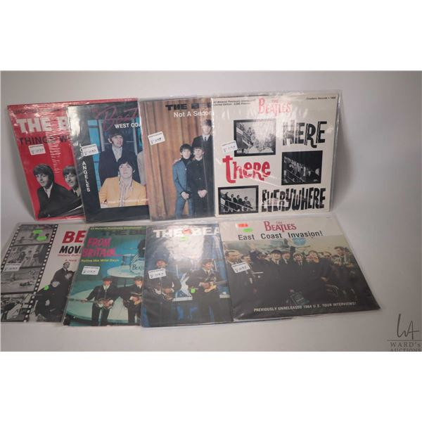 """Eight Beatles LPs including factory sealed """"Things We Said Today"""" (US pressing), factory sealed """"Wes"""
