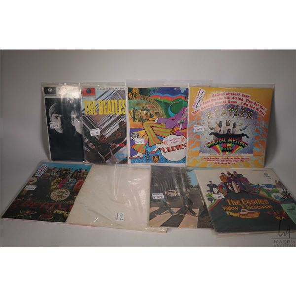 """Eight Beatles LPs including """"Please, Please Me"""" (Canadian pressing), ?A Collection of Beatles Oldies"""