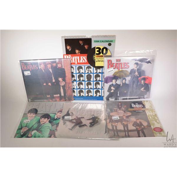 Eighteen Beatles themed wall calendars, assorted years