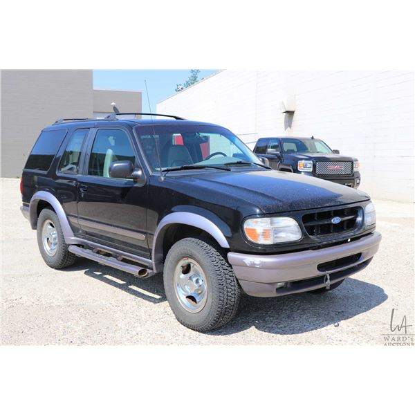 1997 Ford Explorer, two door 4X4 121975 kms, four litre SOHC, automatic transmission with air, cruis