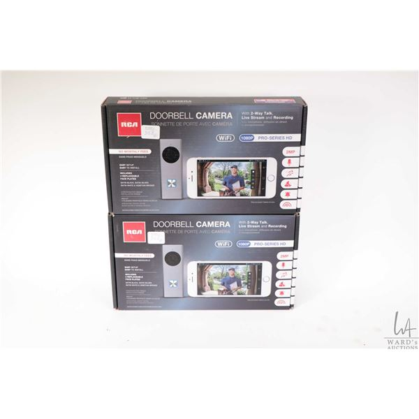 Two RCA doorbell cameras with two way talk, live stream and recording, WIFI, 1080P Pro series HD, ap