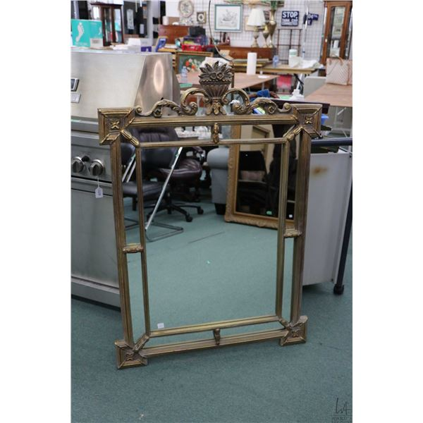 """Gilt framed decor mirror, overall dimension 48"""" X 34"""". Note: Not Available For Shipping. Local Picku"""