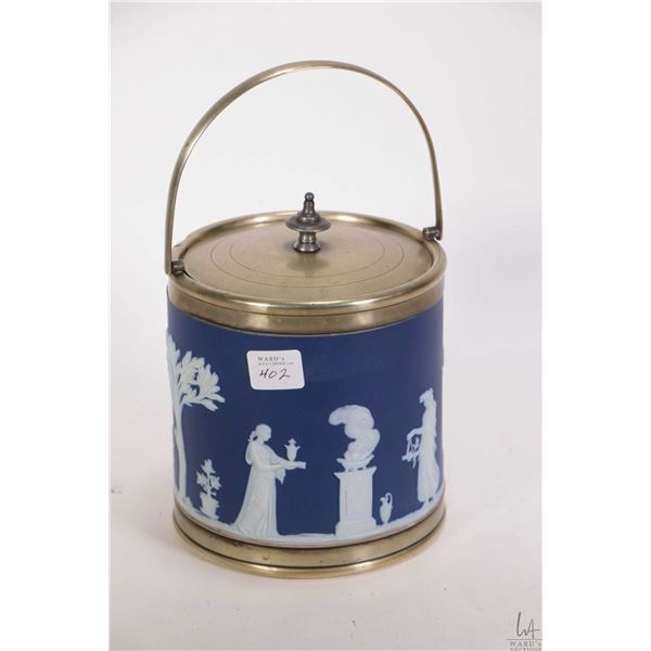 Antique Wedgwood Jasperware biscuit barrel