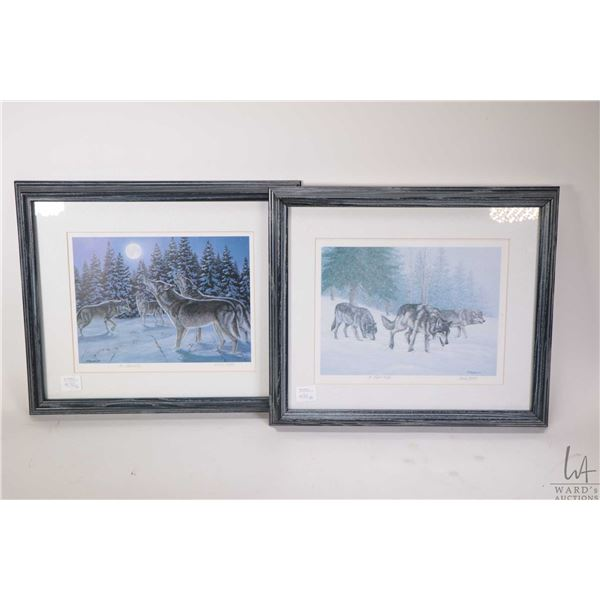 """Two framed Songs of the North prints by artist Richard De Wolfe 12"""" X 13 1/2' each, overall dimensio"""