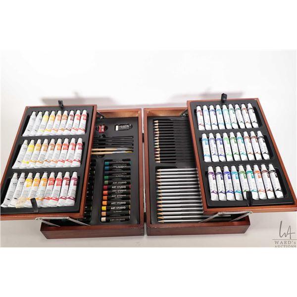 New artist kit including paints, pencils, crayons etc.