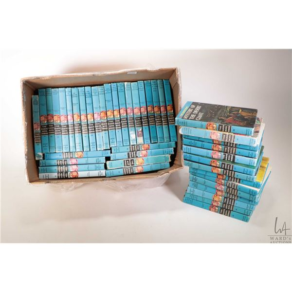 Selection 44 vintage Hardy Boys hardcover books including volumes 1-31, 34, 37-40, 43, 46-48, 50, 51