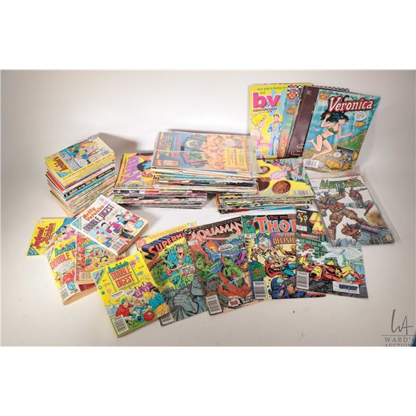 Selection of approximately one hundred comic books including Veronica, Bad Rock & Company, Generatio