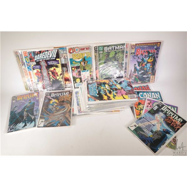Selection of approximately forty three comic books including Daredevil, Transformers, Batman, Red So
