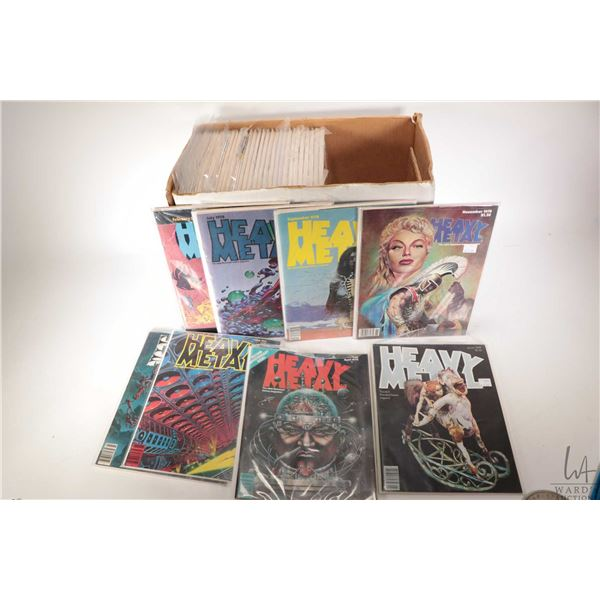 Selection of approximately seventy four copies of Heavy Metal magazine ranging from January 1978-Dec