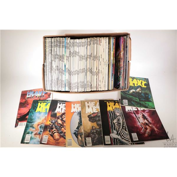 Selection of approximately seventy one copies of Heavy Metal magazine ranging from January 1985-Nove