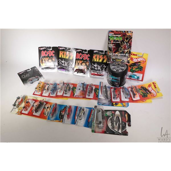 Tray lot of approximately twenty five new in package Hot Wheels including Meyers Manx, '70 Buick GSX