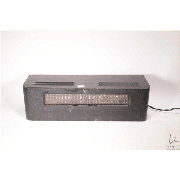 """Vintage electric light up scrolling retail sign """"BARDAHL IS ON THE MOVE ADD IT TO GAS OIL TRANSMISSI"""