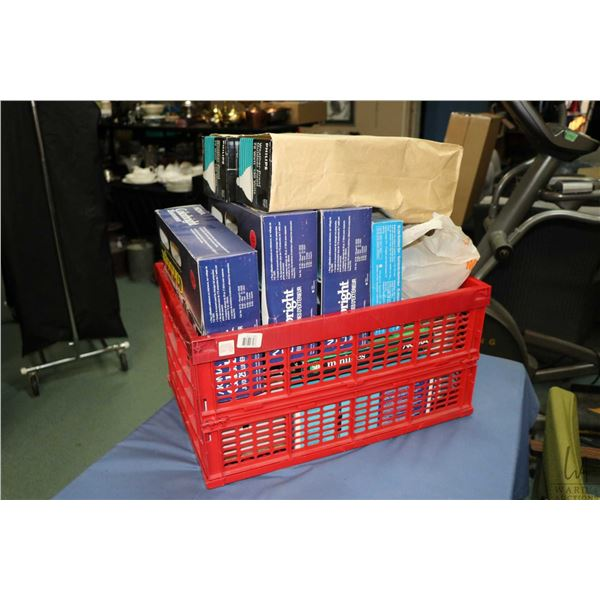 Large selection of boxed Christmas and outdoor flood lights, all appear to be new in box