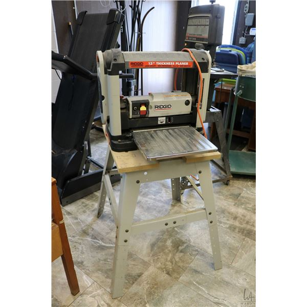 """Ridgid 13"""" thickness planer and stand, tested and working"""