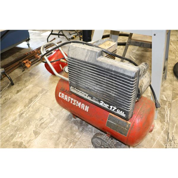 Sears Craftman 2hp, 17 gallon air compressor, tested and working includes new hose and attachments