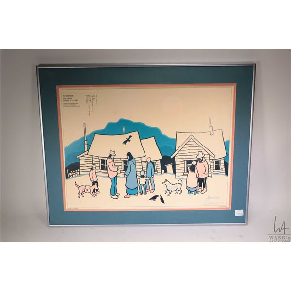 "Framed original coloured pen drawing of birds signed by artist Lawrence Beaulieu 2006, 30"" X 22"" plu"