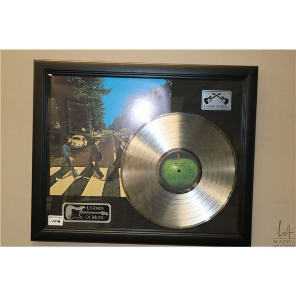 """Framed """"Legends of Music"""" platinum The Beatles Abbey Road"""