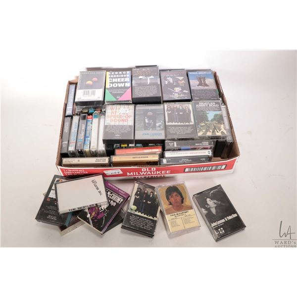 Over 60 count of Beatles or Beatles related cassette tapes