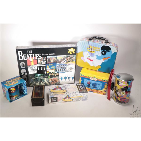 Selection of Beatles merchandise, mostly Yellow Submarine including lunch box, reproduction Corgi di
