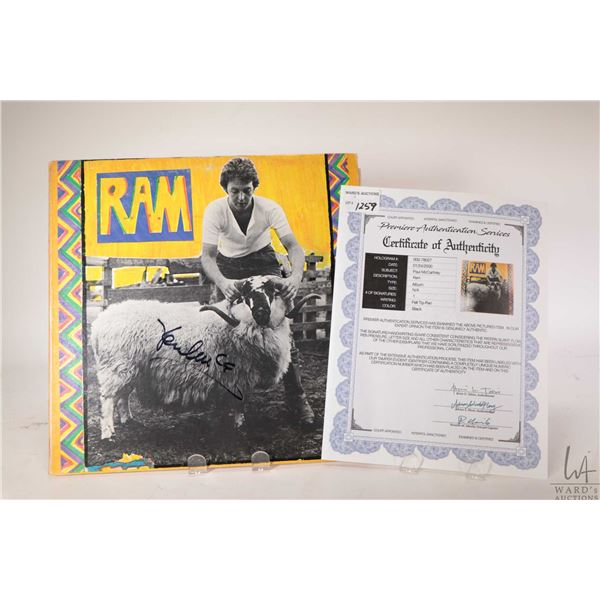 """LP copy of Paul and Linda McCartney's """"Ram"""" manufactured by Apple Records New York, signed by Paul M"""
