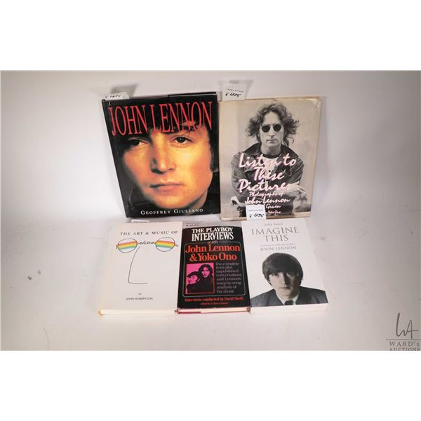 """Five Beatles collectible books including four hardcover and soft cover """"Imagine This- Growing up wit"""