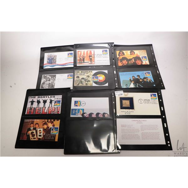 Selection of Beatles themed first day covers twenty three in total including gold stamp ?Yellow Subm