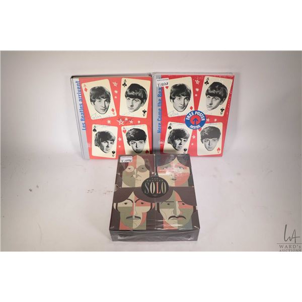 Three Beatles collectible books including two copies of ?Here Come the Beatles- Stories of a Generat