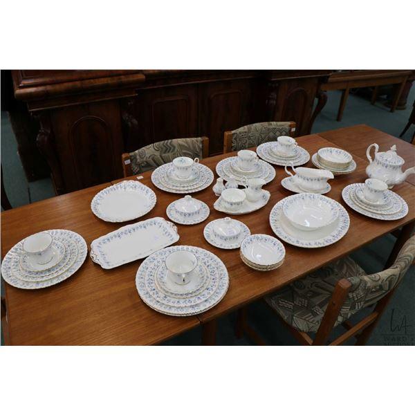 Selection of Royal Albert Memory Lane bone china including seven dinner plates, six side plates, sev