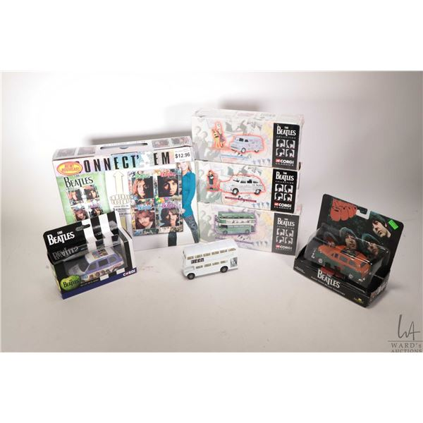 Selection of Beatles collectible merchandise including a 2240 pce. puzzle and six die cast vehicles