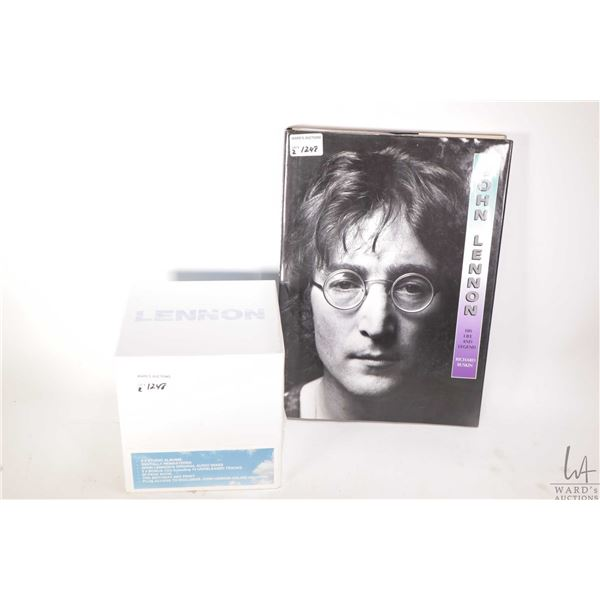 """John Lennon hardcover book and a sealed CD and book package titled """"Lennon"""""""