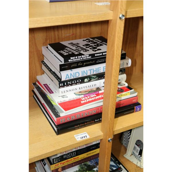 """Selection of Beatles and Beatles related books including """"Each One Believing: Paul McCartney-On Stag"""